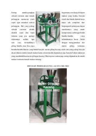 Terlengkap ! WA +62 852-1060-5602 Jual Gambar Mesin Penggiling Daging Manual