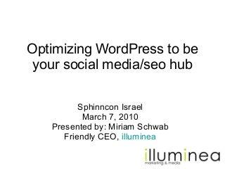 Sphinncon 2010: Using WordPress As Social Media & Seo Hub