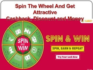 Spin and win discount coupon, money, cashback
