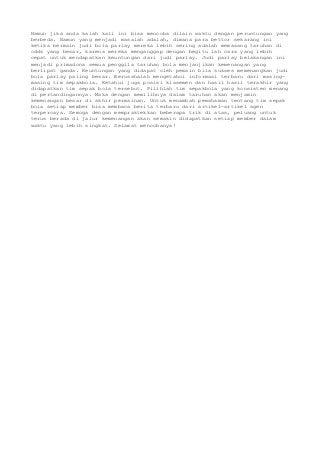 Agen SBOBET MixParlay Minimal 13 Ribu JokiBola88 Bandar Bola Online
