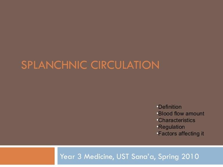 Splanchnic circulation