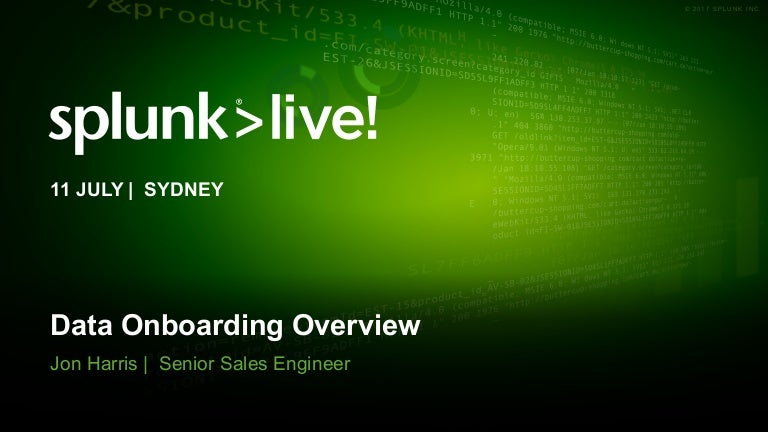 Splunk Data Onboarding Overview - Splunk Data Collection