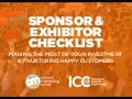 Sponsor and Exhibitor Checklist: Making the Most of Your Investment By Nurturing Happy Customers