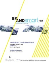 BrandSmart 2012 Sponsor Packages October 17, 2012