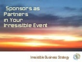 Sponsors as partners in your event