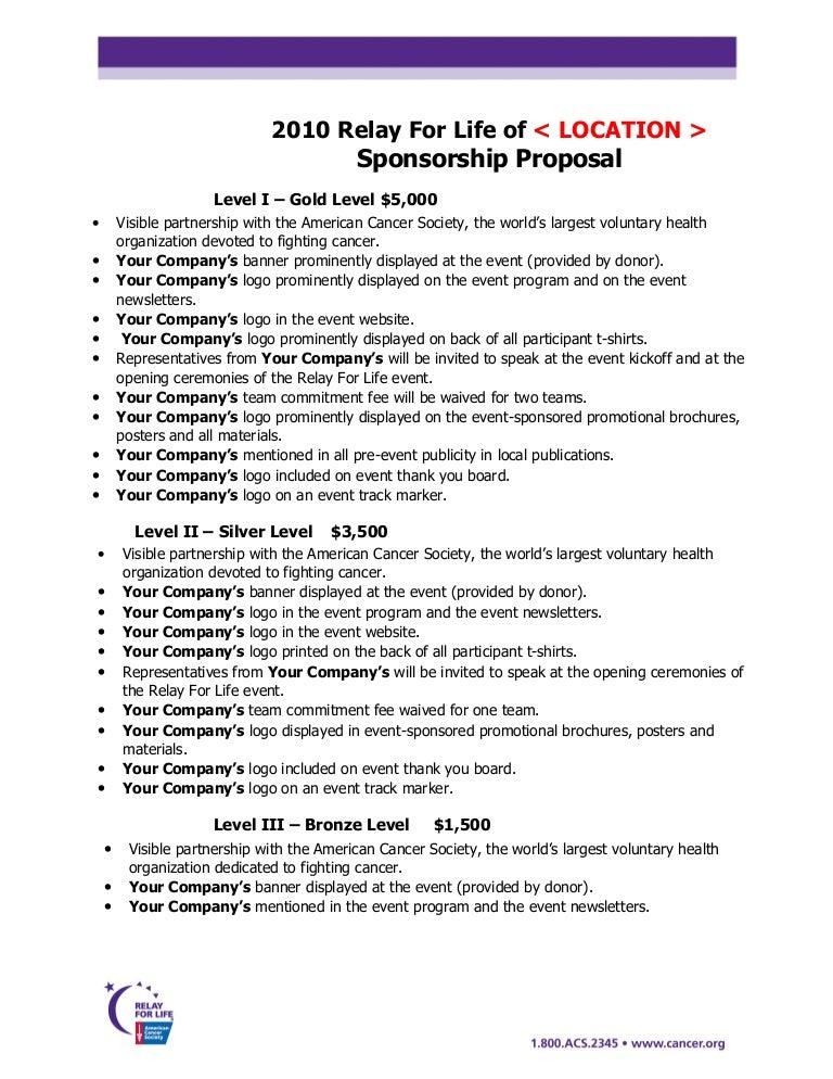Sponsorship Proposal – Sponsorship Proposals for Events