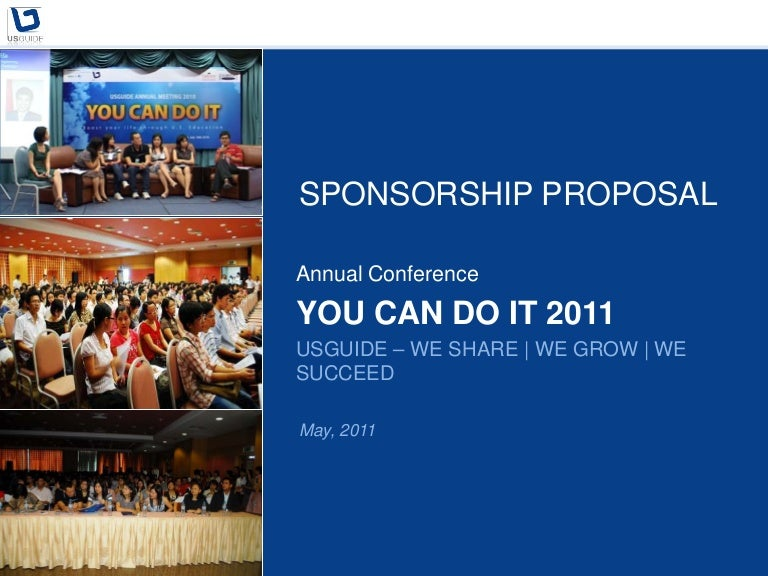 Sponsorship Proposal You Can Do It 2011- Stanford GSB