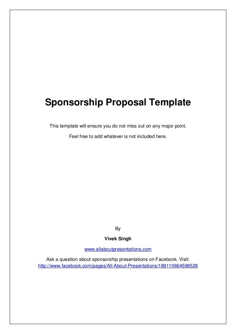 template of a proposal