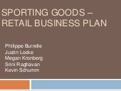 Sporting Goods Retail - Business Plan