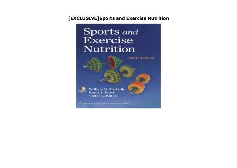 Exclusive Sports And Exercise Nutrition