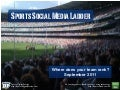 Social Media Rankings in Sports