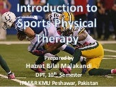 Introduction to Sports Physical Therapy