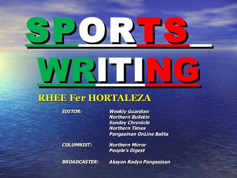 sports news writing sample