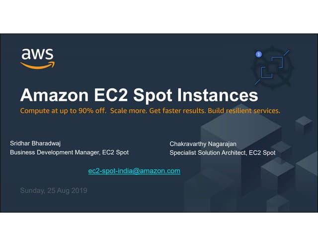 Amazon EC2 Spot Instances Workshop