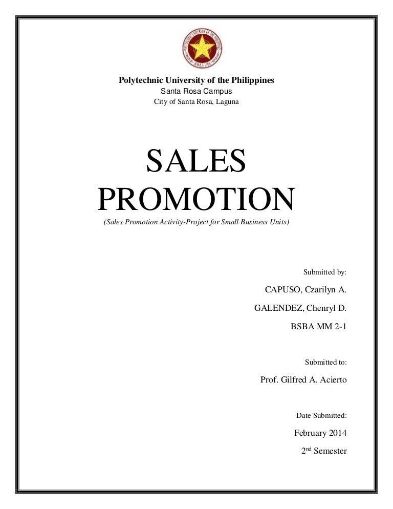 Sales Promotion Project Pdf