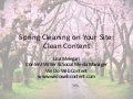 Spring Cleaning on Your Site