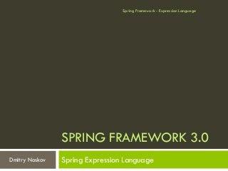 Spring Framework - Expression Language