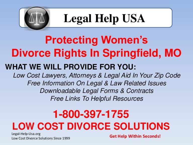 Springfield, Missouri Women Receive Free Legal Help With Divorc…