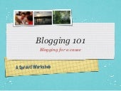Sprout! Blogging 101