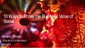 10 Ways to Prove the Business Value of Social