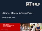 SPTechCon Boston 2015 - Utilizing jQuery in SharePoint