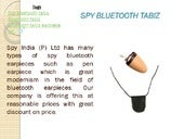 Spy bluetooth devices in india