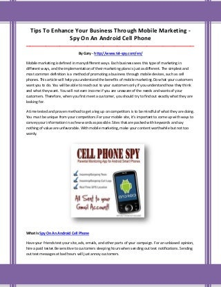 Spy on an android cell phone