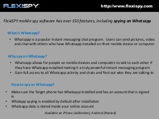 How to spy on Whatsapp with FlexiSPY