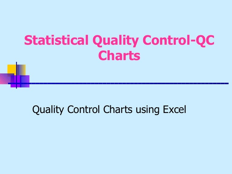quality control charts excel