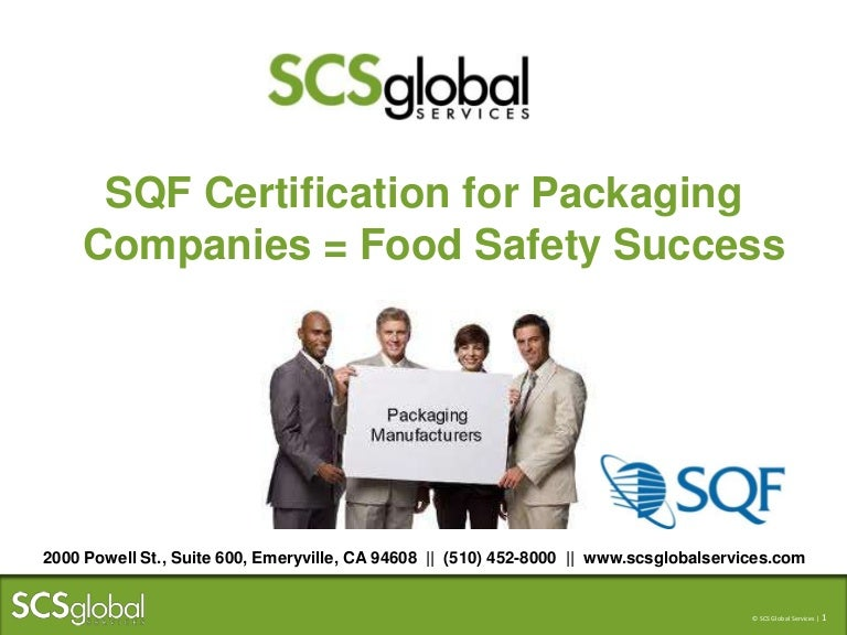 Sqf Certification For Packaging Companies Food Safety Success