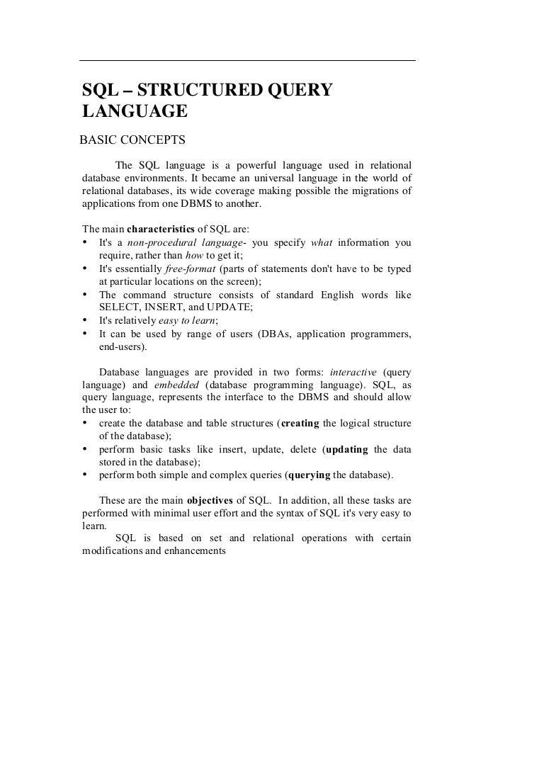 Sql biocorpaavc