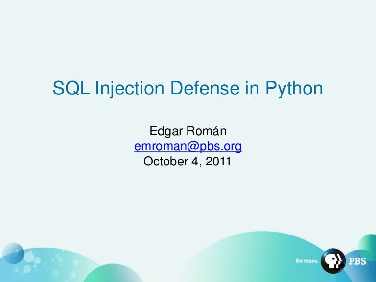 SQL Injection Defense in Python
