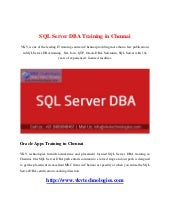 sql server dba training material pdf