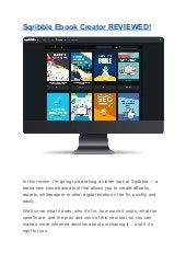 Sqribble ebook creator reviewed