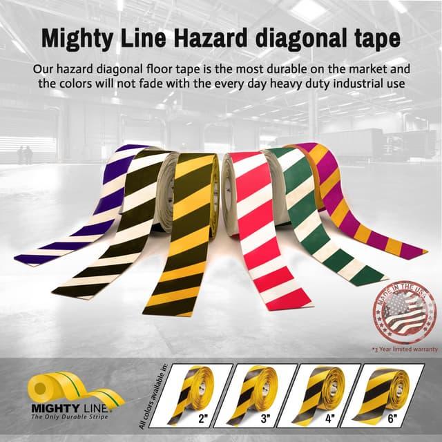 5s Warehouse Diagonal Hazard Floor Tape