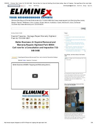 Termite and Bed Bug Control Fords NJ 732-284-3807