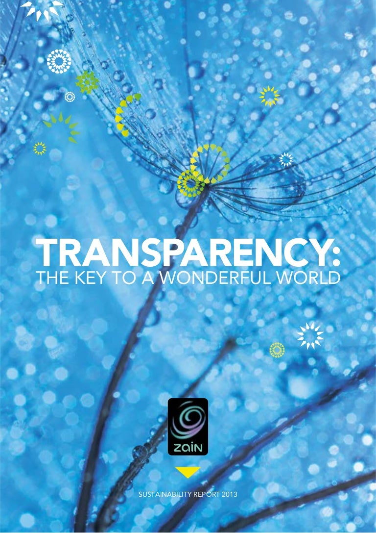 Transparency: The Key to a Wonderful World
