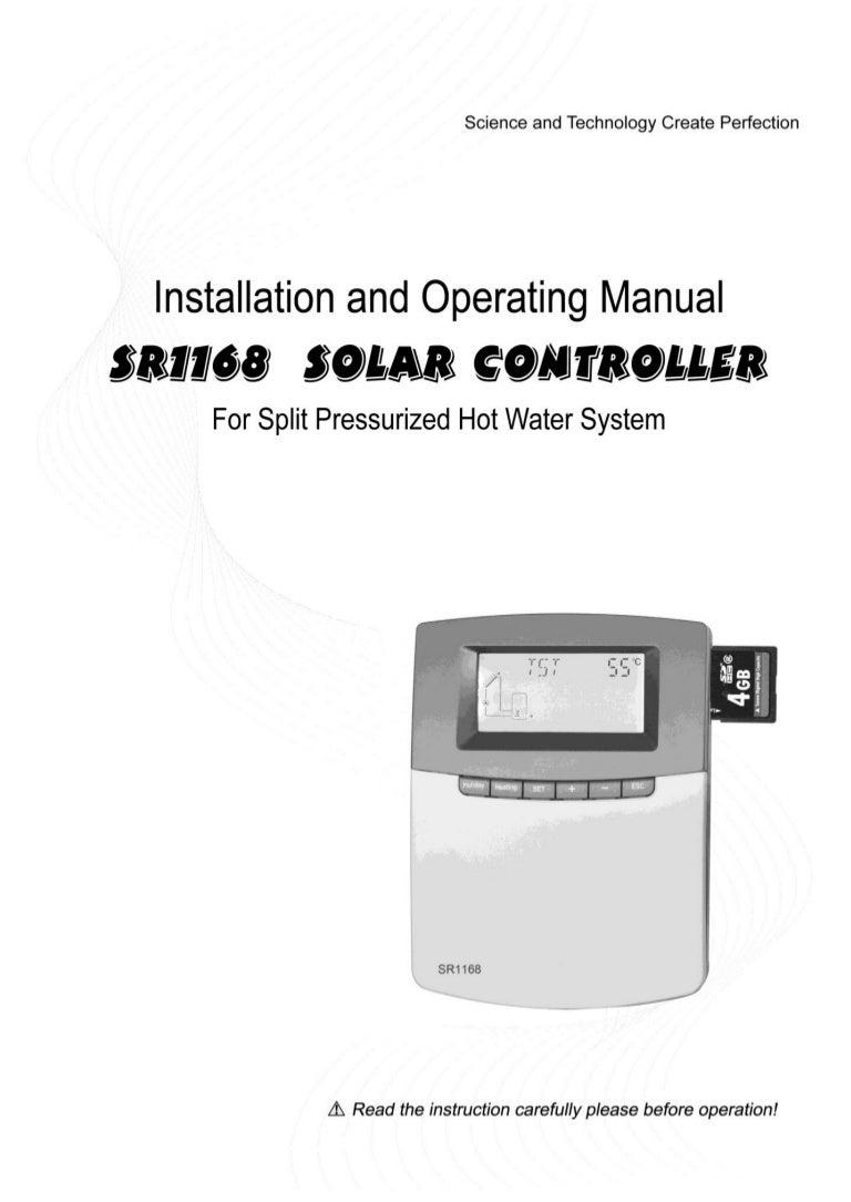sr1168 manual ultisolar new energy co ltd solar working station woolf rh slideshare net solar system operation manual Solar PV System