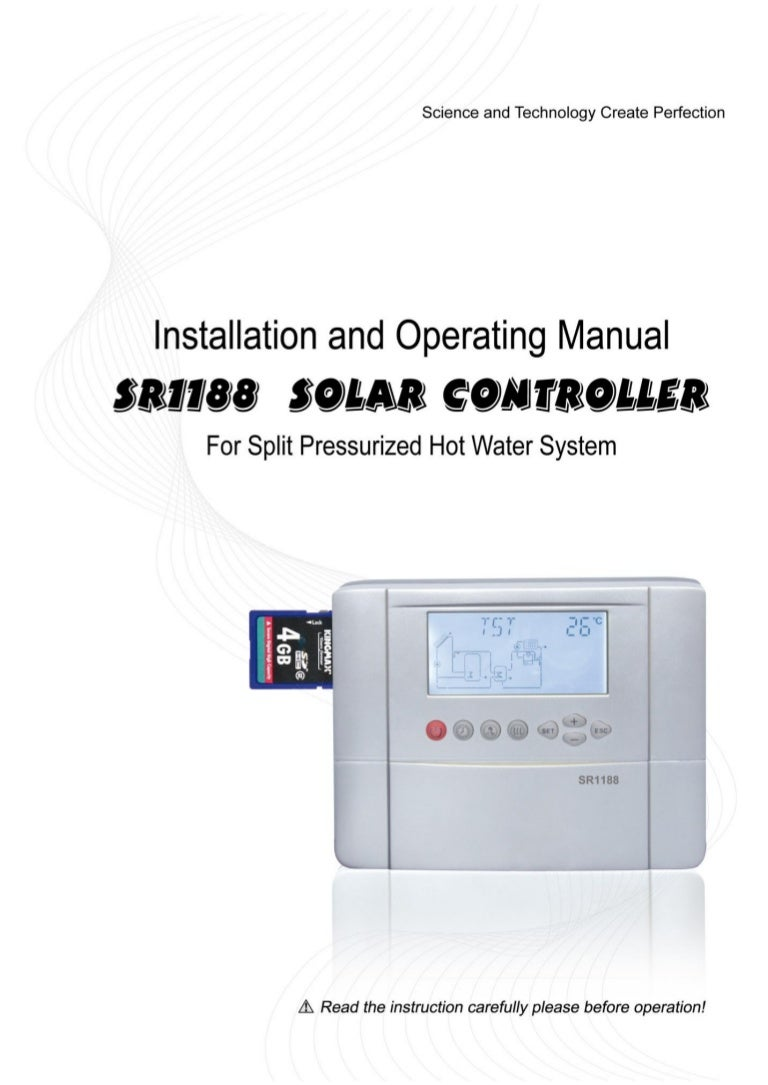 sr1188 manual ultisolar new energy co ltd solar water heaters control rh slideshare net Solar PV System solar system operation manual