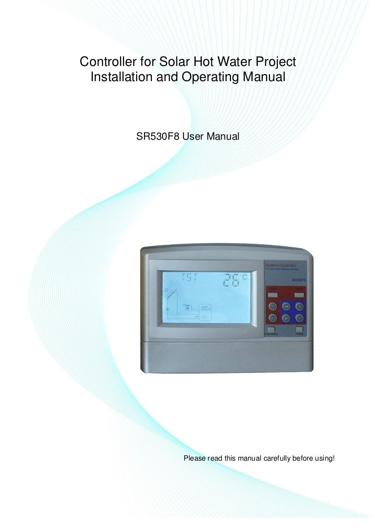 SR530F8 Solar Water Heating Project Controller