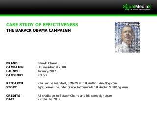 Case Study: The Barack Obama Strategy