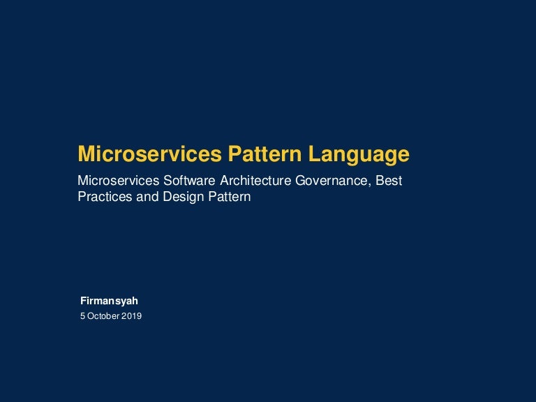 Microservices Decomposition Patterns