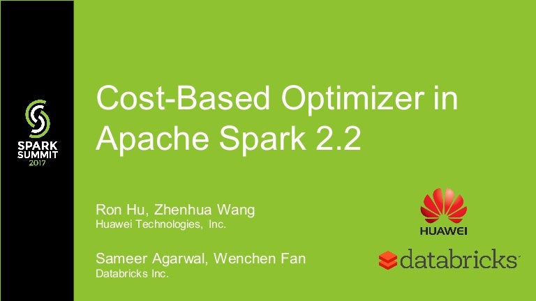 Cost-Based Optimizer in Apache Spark 2 2