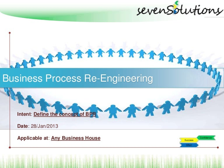business process re engineering Effective business analysis training inteq's business process re-engineering training is a highly interactive high-energy program it's specifically designed to enable you and your organization to succeed in today's rapidly changing, complex chaotic business environment.