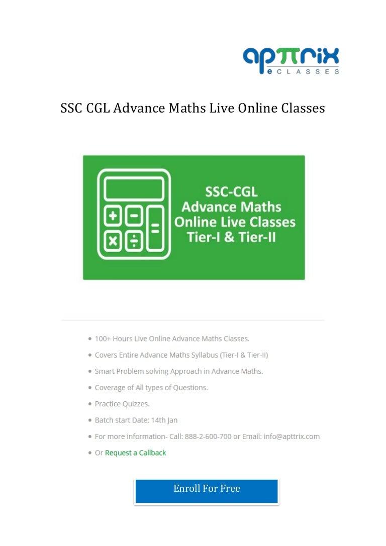 Tips from Apttrix to Maximizing SSC CGL Math's Score