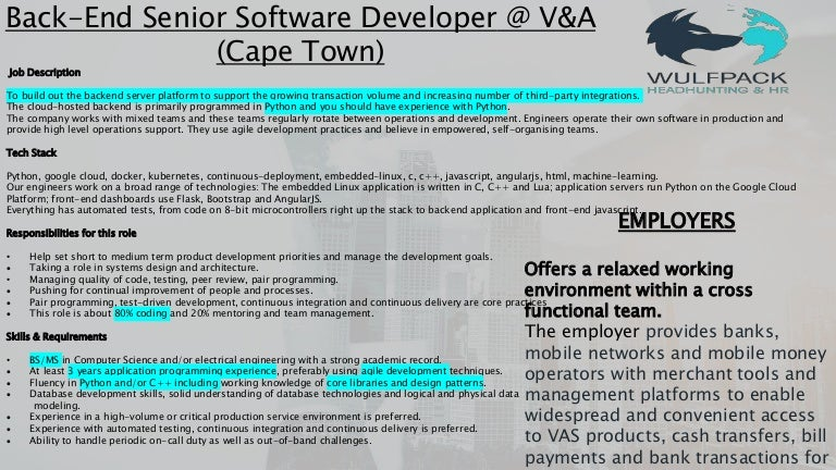 Senior software developer (Python)