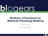 BioGears Overview for SSIH Healthcare Systems Modeling & Simulation Affinity Group