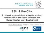 SSH & the City. A network approach for tracing the societal contribution of the Social Sciences and Humanities for local development