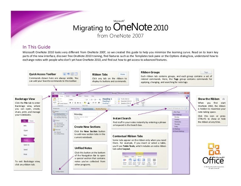 Migrating To Onenote 2010 From Onenote 2007 Microsoft