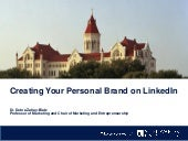 Creating Your Personal Brand on LinkedIn